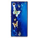 Sony xperia xa1 xz caso cubierta patrón de mariposa pintado en relieve sensación tpu suave caso teléfono caso