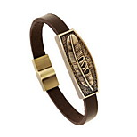 Women's Men's Leather Bracelet Jewelry Natural Fashion Leather Alloy Irregular Jewelry For Special Occasion Gift