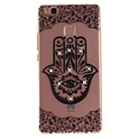 For HUAWEI P8 P9 Case Cover Palm Flower Pattern HD Painted Drill TPU Material IMD Process High Penetration Phone Case P10 Lite (2017) Y5II Y6II