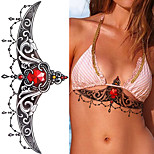 1PCS Sexy Chest Jewelry tattoo Big Size  Body Art tatoo Temporary Tattoo Exotic Sexy Tattoo Stickers