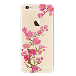 For Apple iPhone SE/5s 5 Case Cover Transparent Pattern Back Cover Case Flower Soft TPU