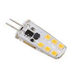 3W G4 LED Bi-pin Lights T 12 SMD 2835 210-230 lm Warm White Cool White Decorative AC/DC 12 V 1 pcs
