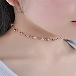 Women's Choker Necklaces Crystal Rhinestone Jewelry Rhinestone Euramerican Fashion Personalized Simple Style Jewelry ForDailywear Daily