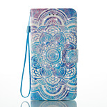 For iPhone 7 7 Plus Card Holder Wallet Pattern Case Full Body Case 3D Cartoon Mandala Hard PU Leather for iPhone 6S/6 Plus 6S 6 SE 5S 5
