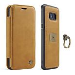 Caseme® tok samsung galaxis s8 s8 plusz kártyatartó flip telefon tok valódi bőr a samsung galaxis s7 s7 pereméhez