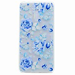 For Nokia 6 Case Cover Translucent Pattern Back Cover Case Blue Rose TPU Soft TPU Case