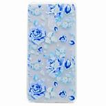 Для nokia 6 кейс покрытие полупрозрачный рисунок задняя крышка чехол синяя роза tpu soft tpu кейс
