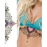 1Pc Sexy Chest Jewelry Tattoo Big Size Body Art tatoo Temporary Tattoo Exotic Sexy Tattoo Stickers