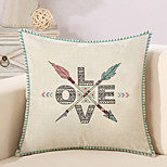 1 Pcs Creative LOVE Letter Arrows Pillow Cover Cotton/Linen 45*45Cm Pillow Case