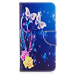 Til iphone 7plus 7 telefon taske pu læder materiale gul sommerfugl mønster malet telefon taske 6s plus 6plus 6s 6 se 5s 5