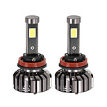 KKmoon Pair of H11 DC 12V 40W 4000LM 6000K LED Headlight Lamp Kit Light Bulbs