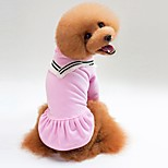 Кошка Собака Футболка Толстовка Одежда для собак На каждый день Сплошной цвет Черный Розовый