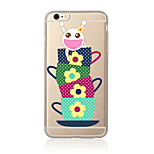 Case For  iPhone 7 7 Plus TPU Soft Back Cover Cartoon Pattern For iPhone 6 Plus 6s Plus iPhone 5 SE 5s 5C 4s