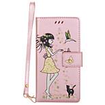 Для huawei p10 lite p8 lite (2017) телефон чехол pu кожаный материал женщина и кошка шаблон светящийся корпус телефона p10 plus p10 p9