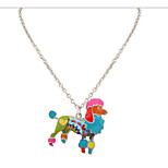 Korean Style Fashion and Personality  Contracted  Adorable Multicolor  Dog Lady Casual Pendant Necklace Statement Jewelry