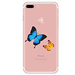 Назначение Чехлы панели Прозрачный С узором Задняя крышка Кейс для Бабочка Мягкий Термопластик для AppleiPhone 7 Plus iPhone 7 iPhone 6s