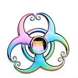 Спиннеры от стресса Ручной обтекатель Волчок Игрушки Игрушки Tri-Spinner Кольцо Spinner Прядильщик Игрушки EDCСтресс и тревога помощи