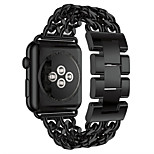 38/42mm Metal Stainless Steel Link Chain Watch Band Strap for Apple Watch iwatch  Series 1/2 Cowboy Casual Band Bracelet