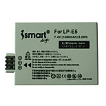 Ismartdigi New LPE5 7.4V 1080mAh Camera Battery for Canon LPE5 LP-E5 EOS 500D 1000D 450D