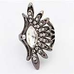 Euramerican Fashion Dream Ling Snow Ring British Rhinestone Women's Rings Statement Jewelry