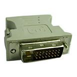 DVI Adaptateur, DVI to VGA Adaptateur Mâle - Femelle 720p Acier nickelé