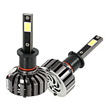 KKmoon Pair of H3 DC 12V 40W 4000LM 6000K LED Headlight Lamp Kit Light Bulbs