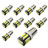 10pcs Bax9s H6W Blackboard 10SMD 7020 Reading Lights  Show Wide Lights White / Blue DC12V