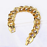 18K Gold Plated Chain Link Curve Bracelet Luxury Unique Stainless Steel Jewelry Gift