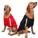 Собака Футболка Одежда для собак На каждый день Сплошной цвет Черный Красный