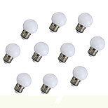 0.8W E27 Decoration Light 6 SMD 5730 135 Lm Orange Decorative AC 220-240 V  10Pcs