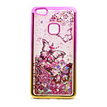 For Huawei P10 Lite P8 Lite (2017) Case Cover Flowing Liquid Pattern Back Cover Case Glitter Shine Butterfly Soft TPU
