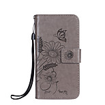 For Phone 7 7 Plus Case Cover Card Holder Wallet Embossed Full Body Case Flower Butterfly Hard PU Leather fori 6s 6 Plus 6S 6 SE 5S 5