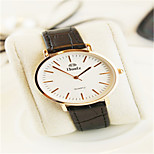 Dames Modieus horloge Japans Kwarts Waterbestendig Leer Band Bruin