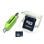 32GB MicroSDHC TF Memory Card with 2 in 1 USB OTG Card Reader Micro USB OTG