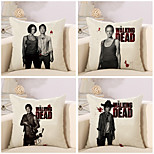 Set Of 4 The Walking Dead Pattern Pillow Cover Classic Square Pillow Case 45*45Cm Sofa Cushion Cover