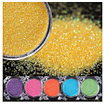 6 Boxes Candy Sandy Nail Glitter Set Colorful Rainbow Manicure Nail Art Dust Tips Decorations Kit