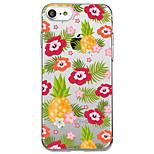 Dla iphone 7 plus 7 obudowa przypadku przejrzysty wzór obudowa tylna skrzynka owoców kwiat miękka tpu dla iphone 6s plus 6s 6 plus 6 5s 5