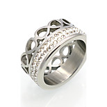 New Fashion 18K Inifinty  Cubic Zirconia Personality Brand Design Titanium Steel  Rings For Women