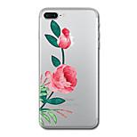 Pour iphone 7 plus 7 housse couverture transparent motif couverture couverture fleur doux tpu pour iphone 6s plus 6s 6 plus 6 5s 5 se
