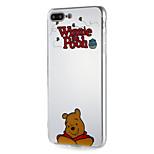Case for apple iphone7 7plus soft tpu word / фраза мультфильм медведь шаблон для 6s плюс 6 плюс 6s 6