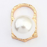 Euramerican Personalized Punk Style Great Pearl Rings Party Couple's Rings Statement Jewelry