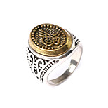 Antiqued Gothic Floral Rings Male Trendy Rock Punk Biker Bands Jewelry Ring