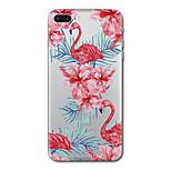 Pour iphone 7 plus 7case cover transparent pattern back cover case fleur flamingo doux tpu pour iphone 6s plus 6s 6 plus 6 5s 5 se