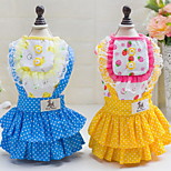 Other Dress Dog Clothes Cute Casual/Daily Wedding Princess Blue Yellow