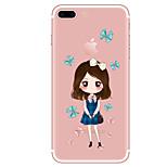Case For  iPhone 7 7 Plus Cartoon Pattern TPU Soft Back Cover  For iPhone 6 Plus 6s Plus iPhone 5 SE 5s 5C 4s