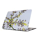 For MacBook Air Pro 11.6 13.3 15.4 inch Retain Case Cover Cartoon Drawing Painting Decorate Protector for New MacBook Flower Pattern