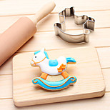 Hobby Horse Wooden Horse Trojan Cookies Cutter Stainless Steel Biscuit Cake Mold Metal Kitchen Fondant Baking Tools