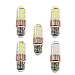 5PCS E27 9W LED Corn Lights 60 SMD 2835 600-680 lm Warm White /White  220V