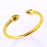 Luxury Fashion Gold Plated Open Cuff Bangle Bracelet Gothic Adjustable Jewelry Gift