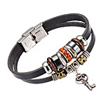 Men's Leather Bracelet Jewelry Natural Fashion Crystal Leather Alloy Irregular Jewelry For Special Occasion Gift